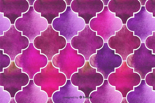 Fond de mosaïque aquarelle élégante violet
