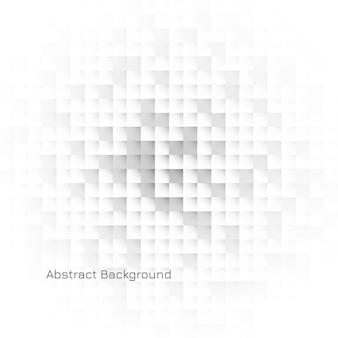 Fond de mosaïque blanche géométrique abstraite
