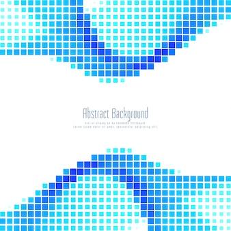 Fond de mosaïque bleue abstraite