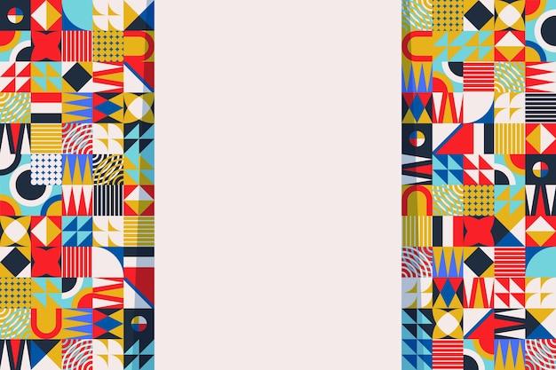 Fond de mosaïque colorée design plat