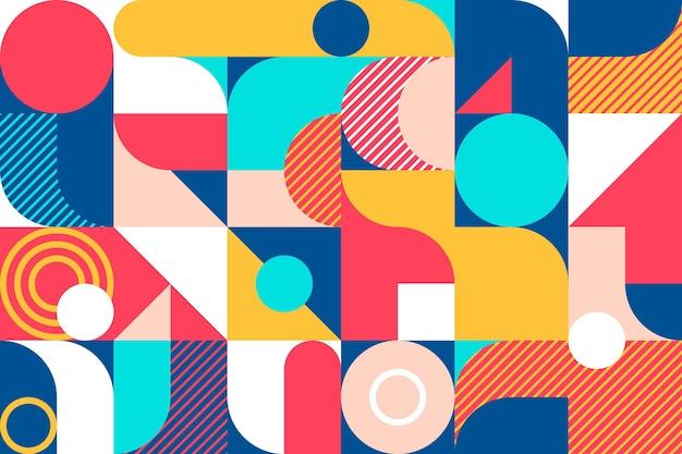 Fond De Mosaïque Colorée Design Plat Vecteur Premium