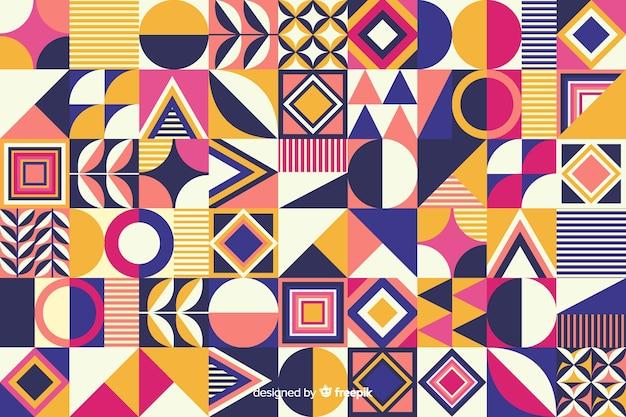 Fond de mosaïque colorée de forme géométrique