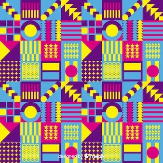 Fond de mosaïque colorée avec des formes géométriques