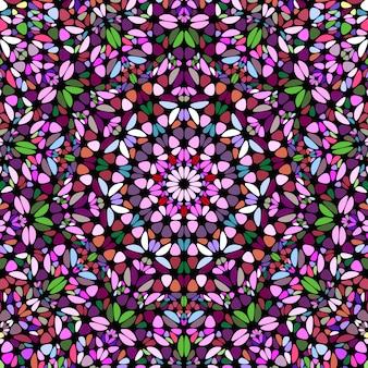 Fond de mosaïque florale circulaire géométrique abstraite