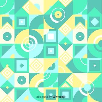 Fond de mosaïque de formes géométriques colorées