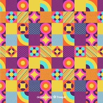 Fond de mosaïque géométrique coloré