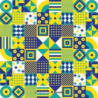 Fond de mosaïque géométrique décorative colorée