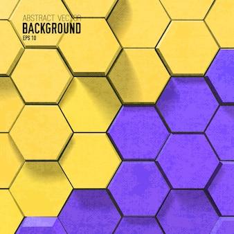 Fond de mosaïque avec des hexagones colorés dans un style géométrique