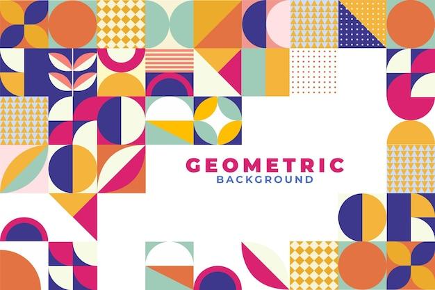 Fond De Mosaïque Plat Géométrique Vecteur Premium