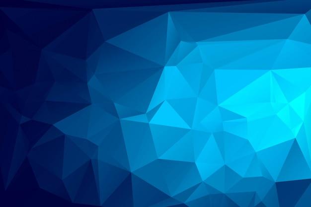 Fond de mosaïque polygonale bleu foncé