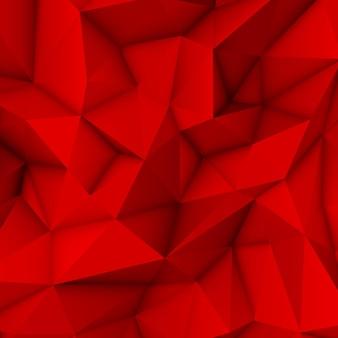 Fond de mosaïque triangulaire polygonale abstraite lowpoly rouge pour l'impression web de fonds d'écran