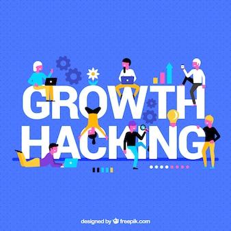 Fond avec mot de piratage de la croissance