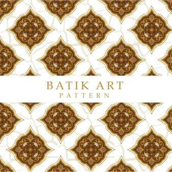 Fond de motif batik art sans couture