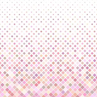 Fond de motif carré coloré abstrait - design vectoriel géométrique à partir de carrés diagonaux en tons roses