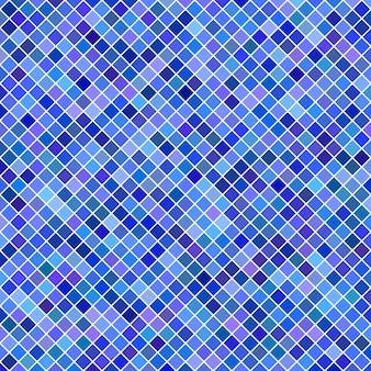 Fond de motif carré - graphique vectoriel géométrique à partir de carrés diagonaux en tons bleus