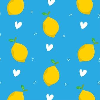Fond de motif de citron