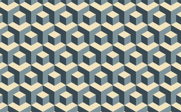 Fond de motif de cube géométrique