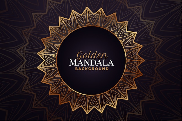 Fond de motif décoratif de luxe mandala doré