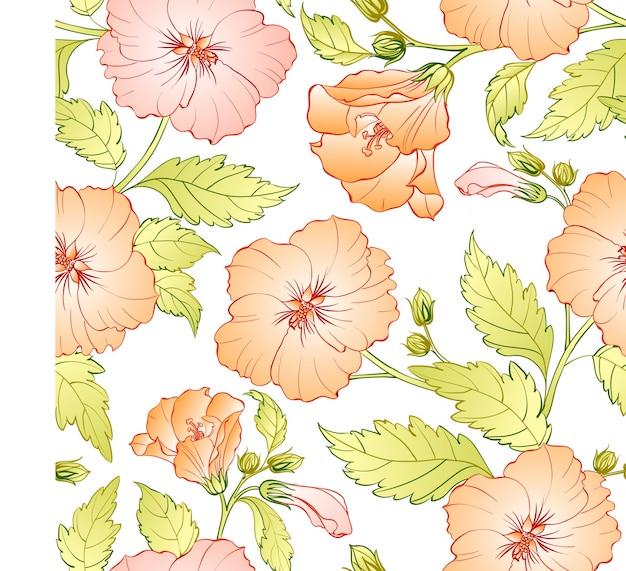 Fond de motif de fleurs roses