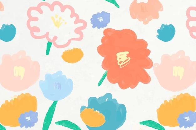 Fond de motif floral dessiné à la main