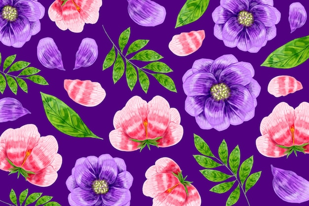 Fond de motif floral moderne