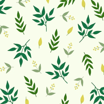 Fond motif floral plante tropicale illustration vectorielle