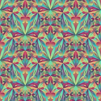 Fond de motif floral polygonale mosaïque abstraite