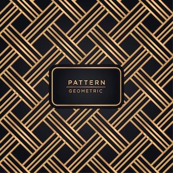 Fond de motif géométrique de luxe en couleur or
