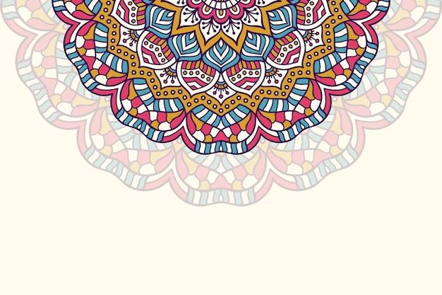 Un fond de motif géométrique simple vecteur coloré