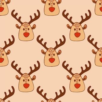 Fond motif renne père noël sur les médias sociaux post décoration noël illustration vectorielle