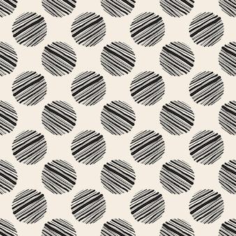 Fond de motif simple sans soudure avec des pois à la main monochrome