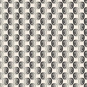 Fond de motif de tissu sans couture avec des pois de dessin à la main simple
