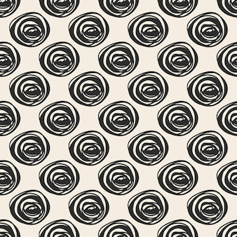 Fond de motif de tissu sans couture avec des pois à la main monochrome