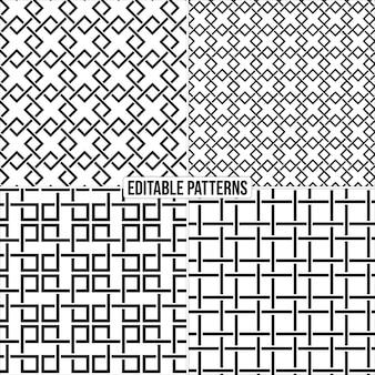 Fond de motif vectoriel élégant décoratif modifiable