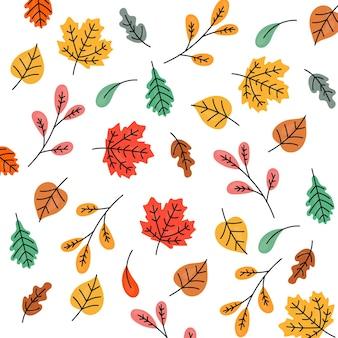 Fond à motifs d'automne