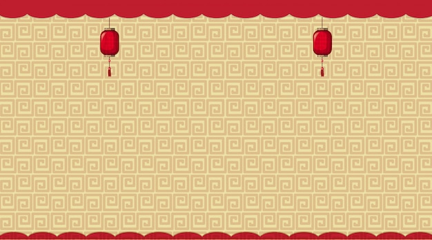 Fond avec des motifs chinois bruns