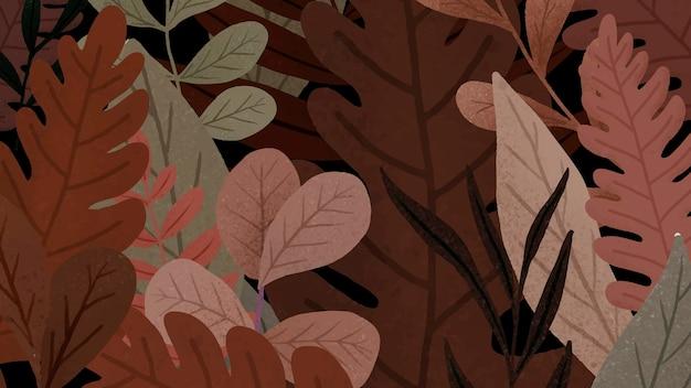 Fond à motifs de feuilles d'automne