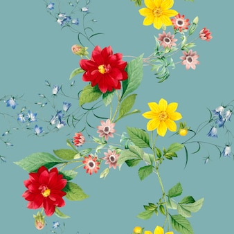 Fond à motifs floraux