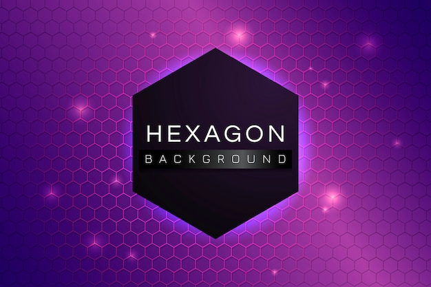 Fond à motifs hexagonaux