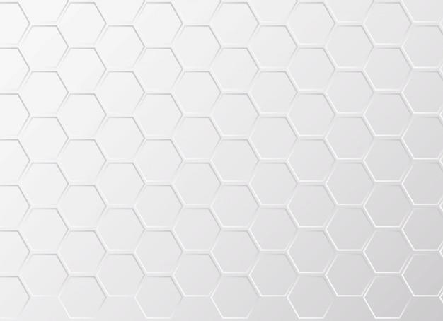 Fond à motifs hexagone blanc