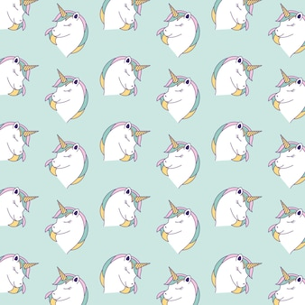 Fond de motifs de licornes