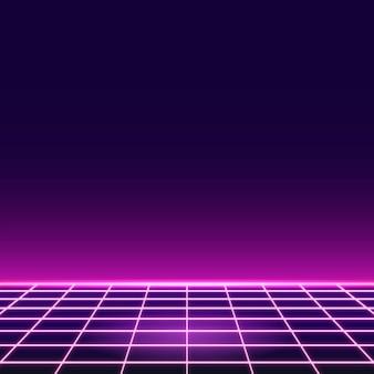 Fond à motifs néon grille rose