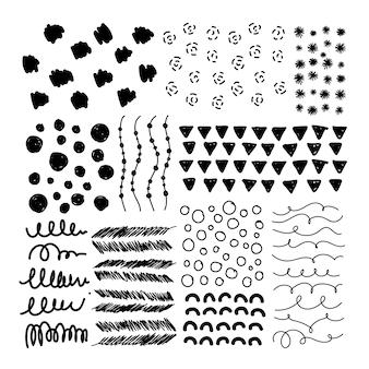 Fond à motifs noir et blanc
