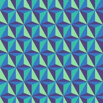 Fond avec des motifs de prisme triangulaire géométrique tricolore