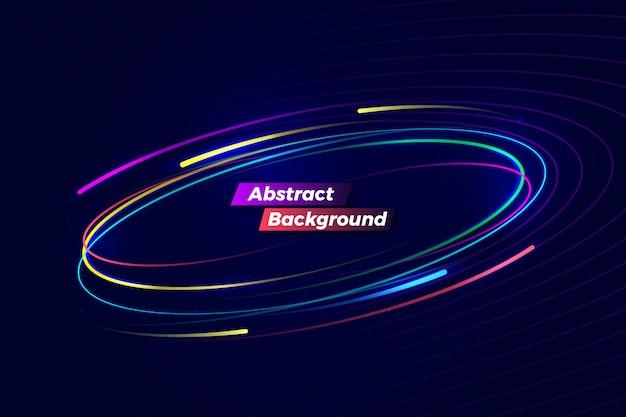 Fond de mouvement coloré abstrait numérique