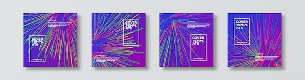 Fond de mouvement coloré de bannière de vecteur défini pour l'affiche de flyer de vente de bannière de concept de page de destination