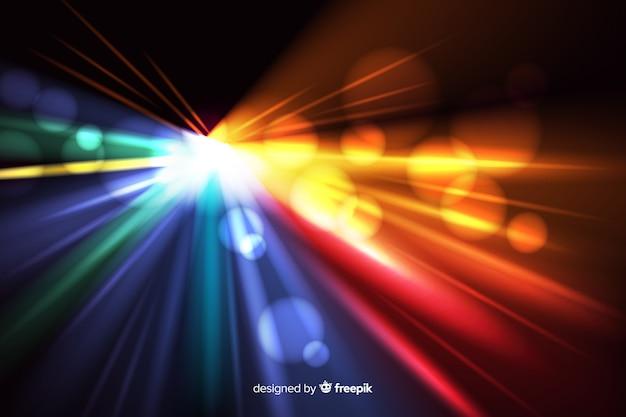 Fond de mouvement de lumière avec des formes abstraites