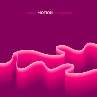 Fond de mouvement rose abstrait moderne
