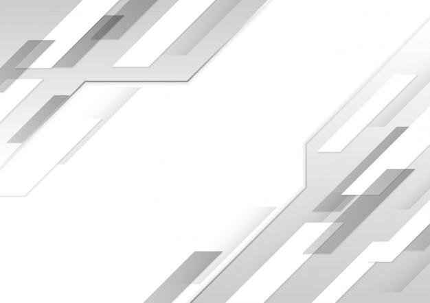 Fond de mouvement de technologie brillant blanc et gris.