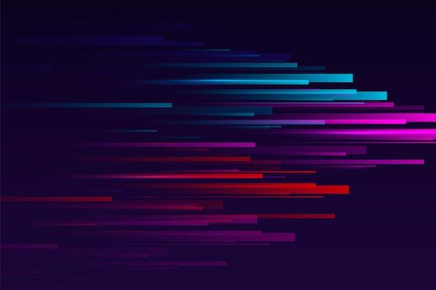 Fond de mouvement de vitesse coloré dégradé